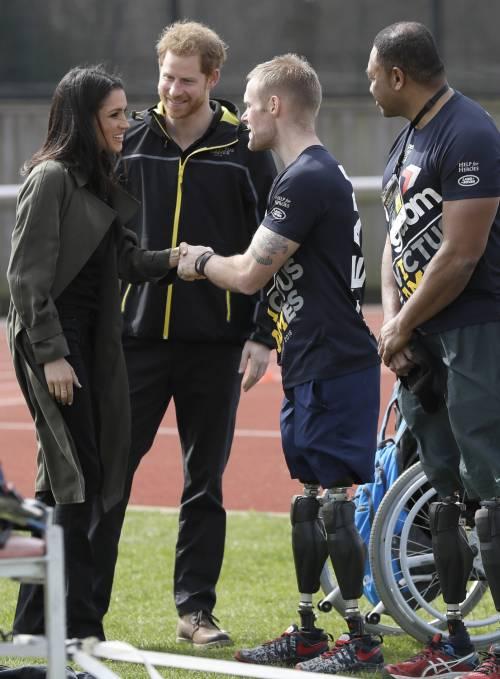 Meghan Markle con il Principe Harry agli Invictus Games 8