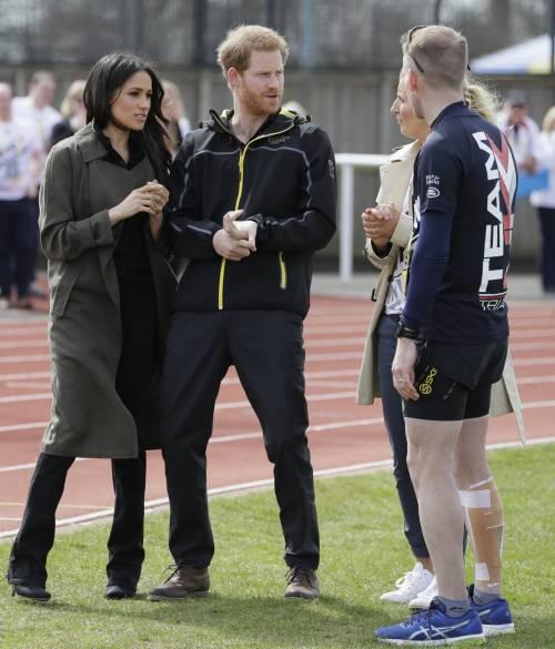 Meghan Markle con il Principe Harry agli Invictus Games 9