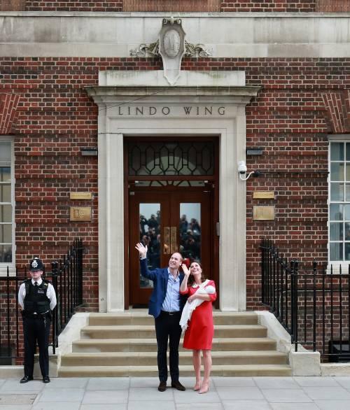 Kate Middleton e il Principe William col Royal Baby 2