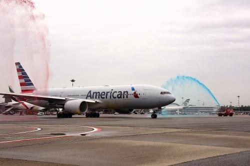 Malpensa, Boeing 777-200ER per i 10 anni di American Airlines