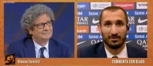 Juventus, gelo in studio in diretta dopo l'appunto di Cucchi a Chiellini
