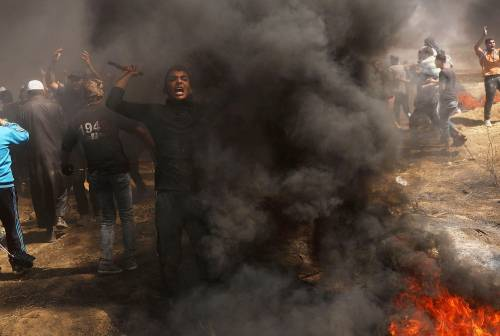 Ambasciata Usa a Gerusalemme, scontri a Gaza 1