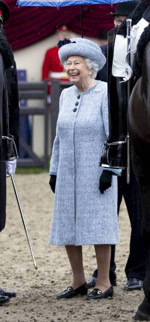 Principe Filippo in auto per l'Horse Show 7