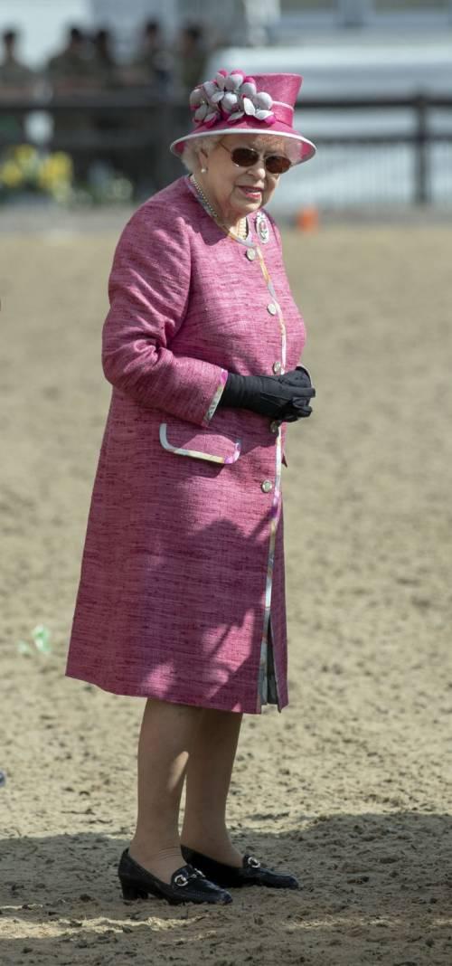 Principe Filippo in auto per l'Horse Show 19