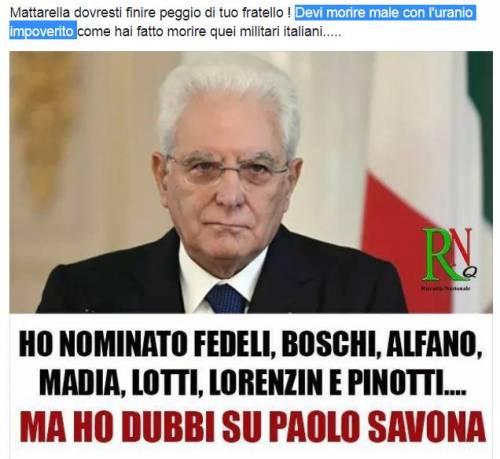 Insulti e minacce di morte sui social a Mattarella 3