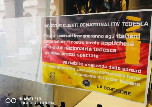 Governo, il cartello del bar contro i tedeschi 3