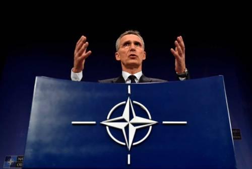 Jens Stoltenberg durante il meeting dei ministri degli Esteri della Nato tenutosi a Bruxelles il 27 aprile scorso.