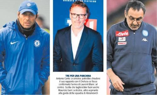 Il Chelsea va in Blanc. Conte e Sarri vanno in tilt