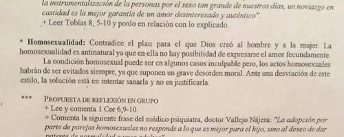 Spagna, sotto inchiesta per aver citato la Chiesa sull'omosessualità
