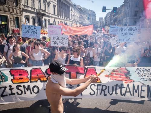 Stranieri e sinistra in corteo contro Salvini 2