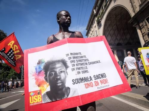 Stranieri e sinistra in corteo contro Salvini 5