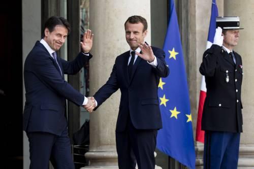 Conte da Macron all'Eliseo 6