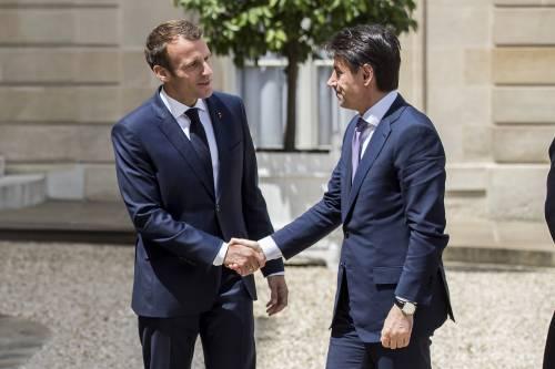 Conte da Macron all'Eliseo 4