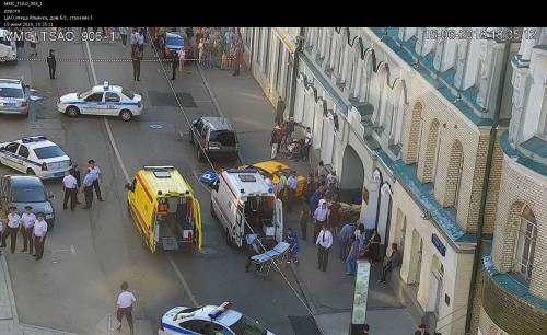Mosca, taxi travolge otto pedoni