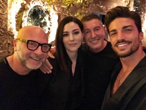 Bellucci e Di Vaio, icone di eleganza sulla  passerella di Dolce & Gabbana