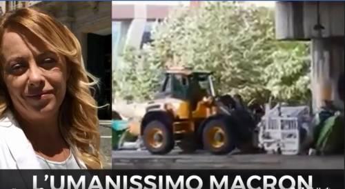 """Meloni incastra Macron col video sugli sgomberi: """"Migranti? Stai zitto"""""""