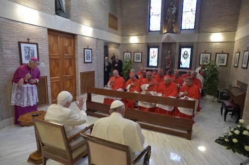 I nuovi cardinali in visita da Benedetto XVI