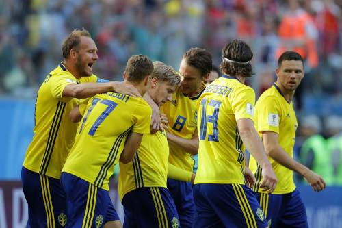 Mondiali 2018, la Svezia manda al tappeto 1-0 la Svizzera e approda ai quarti