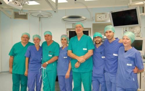 L'equipe degli Spedali Civili di Brescia che ha operato
