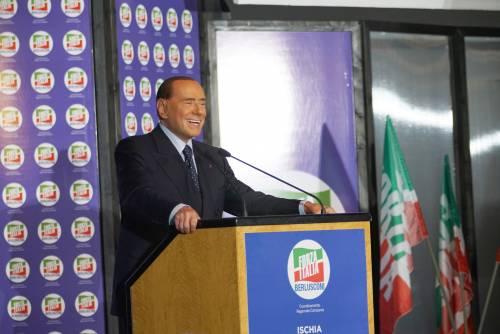"""Berlusconi a Forza Italia: """"Con la coalizione saremo maggioranza"""""""