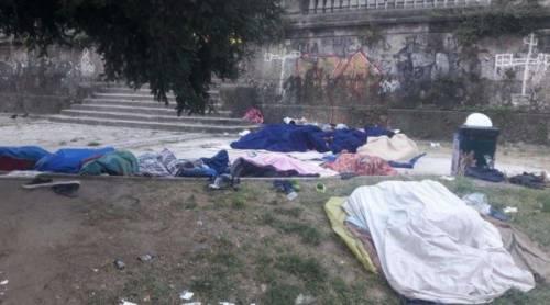 """Giardini Montanelli come un """"centro profughi"""""""