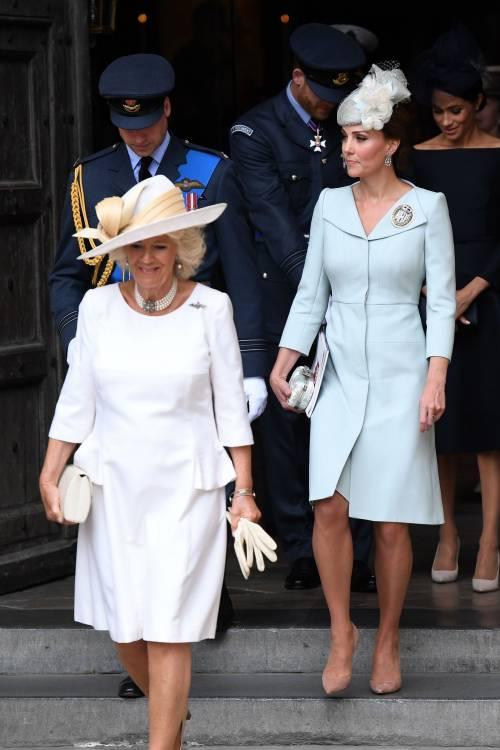 Meghan Markle e Kate Middleton al centenario del Raf 9
