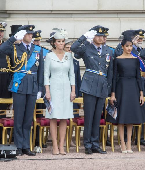 Meghan Markle e Kate Middleton al centenario del Raf 3
