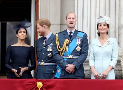 Meghan Markle e Kate Middleton al centenario del Raf 8