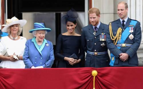 Meghan Markle e Kate Middleton al centenario del Raf 2