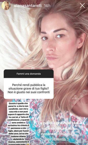 """Elena Santarelli si sfoga: """"La gente falsa striscia"""""""
