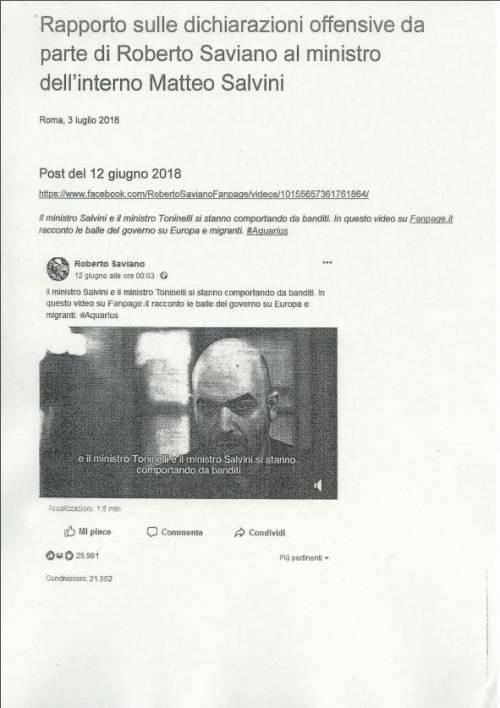 La querela di Salvini a Saviano 6
