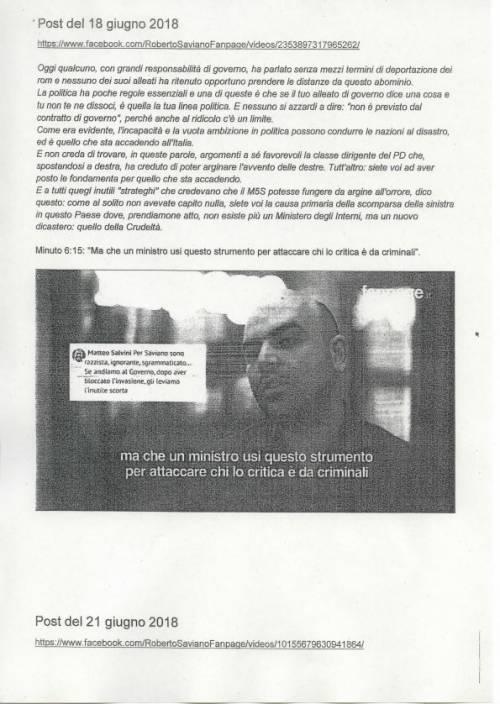 La querela di Salvini a Saviano 7