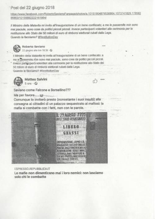 La querela di Salvini a Saviano 8
