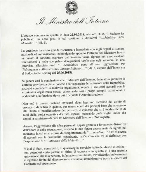 Querela Salvini a Saviano2