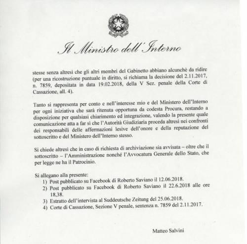 Querela Salvini a Saviano4