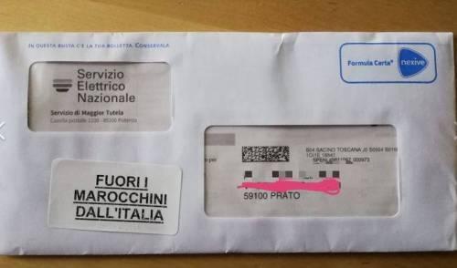 """""""Fuori i marocchini dall'Italia"""", il messaggio choc spunta nelle bollette"""