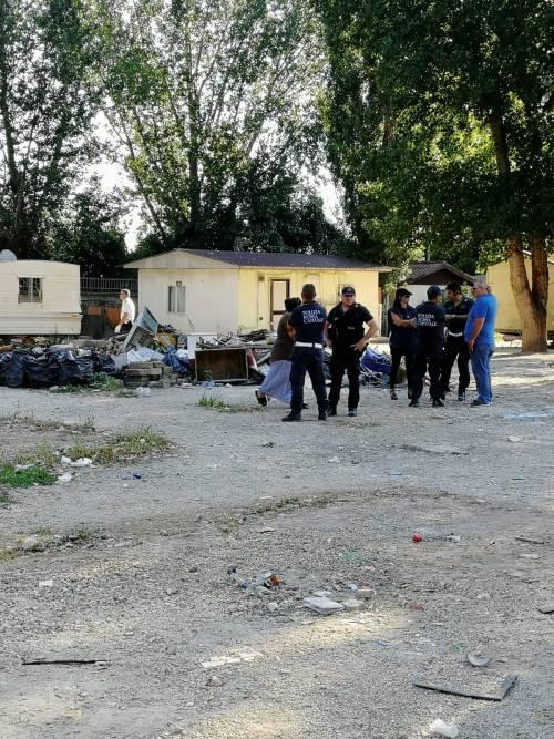 L'intervento della Polizia Locale al Camping River 1