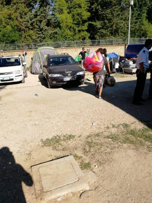 L'intervento della Polizia Locale al Camping River 7