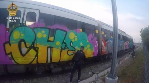 Graffiti sui treni in sosta: writer tedeschi nei guai