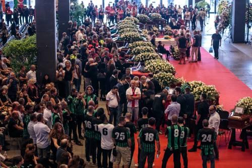 I presenti ai funerali di Stato