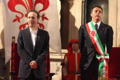 Benigni con Renzi nel docufilm su Firenze? L'agente smentisce