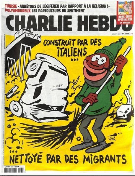Charlie Hebdo, vignetta choc: ride sui morti di Genova