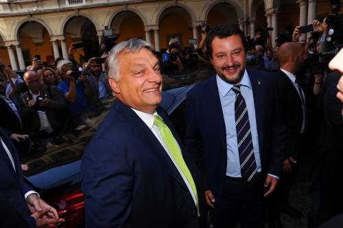 """Nasce l'asse tra Salvini e Orban: """"Insieme fermiamo gli sbarchi"""""""