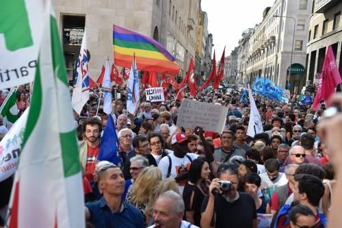 Sinistra in piazza contro Salvini e Orban 8