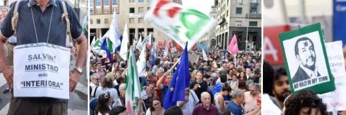 Sfilata buonista della sinistra. In piazza l'odio contro Salvini