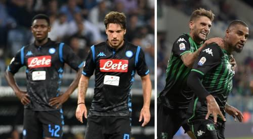 Napoli giù, sorpresa Sassuolo: ora l'anti-Juve è solo la Juve
