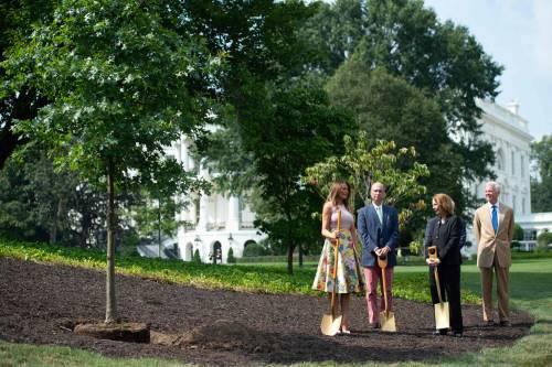 Melania Trump nell'orto con i tacchi: foto 7