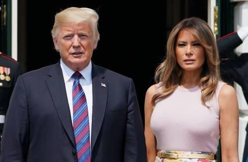 Melania Trump nell'orto con i tacchi: foto 4
