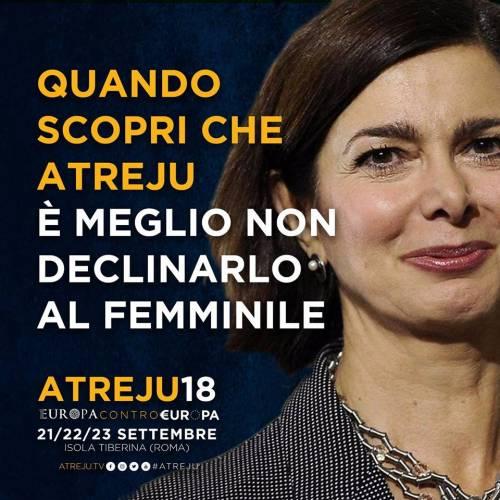 La campagna social di Atreju contro Boldrini, Renzi e Junker 5