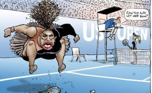 Us Open, vignetta satirica contro Serena Williams: web indignato